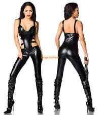 Sexy Wet Look PVC Lingerie Erotic Lycra Spandex Catsuit Jumpsuits Fetish Gothic
