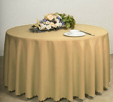 """Plain Circular Round Tablecloth Solid 68"""" Inches Clean Wipe Dining Table Cloth"""