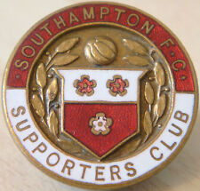 SOUTHAMPTON Rare SUPPORTERS CLUB Badge Maker H SLINGSBY Ltd NUNEATON BUTTON HOLE
