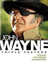 John Wayne Triple Feature: True Grit/The Cowboys/The Searchers DVD WS 2015 NEW