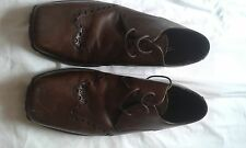 MENS RED HERRING BROWN LACE UP SHOES SIZE 10