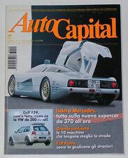 AUTOCAPITAL 10/1993 AUTO AVIO COSTRUZIONI 815 – BERTONE STRATOS ZERO - AMPHICAR
