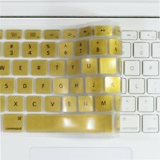 METALLIC GOLD Keyboard Cover Skin for Macbook White 13""
