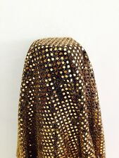 Gold 3mm sequin Black knit shiny sparkly fabric Per Metre M39 Clothing, midtex