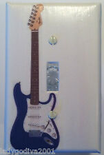 'New!' LARGER SIZE! Blue Electric Guitar - Light Switch Cover - Single Toggle