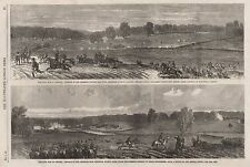 1863 CIVIL WAR IN AMERICA, ADVANCE OF FEDERALS TOWARDS LEE TOWN, RETREAT FROMJEF