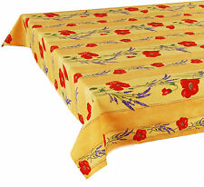 "60"" x 60"" Square COATED Provence Tablecloth - Poppy Yellow"