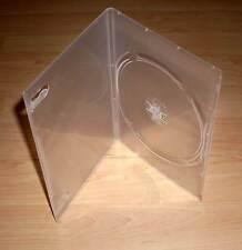 3 DVD Hüllen Case Slim 1fach Hülle Slimm dünn 7mm transparent durchsichtig Neu