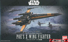 NEW Poe's X-Wing Star Fighter Star Wars Scale 1/72 Model Bandai Japan