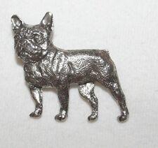 French Bulldog Dog Fine PEWTER PIN Jewelry Art USA Made
