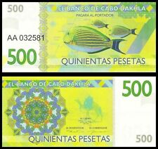 Cabo Dakhla 500 pesetas 2015 UNC Clownfish Anemonefish - Private Issue