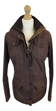 #743 Barbour Ladies Brown Wax Cotton Summer Sapper Jacket, UK 10