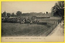 cpa PARIS HIPPISME Chevaux Grande COURSE de HAIE Steeple Chase GREAT HURDLE RACE