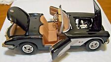 Motormax Toy1959 Chevy Corvette black/white Convertible 1/24 scale Diecast Car