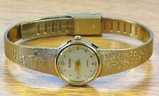 Elgin Gold Tone Vintage Elegant Ladies Quartz Wrist Watch-Japan Movement