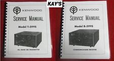 Kenwood Twins ~ T-599S & R-599S Service Manuals on 32 LB PAPER! ~ FAST SHIPPING!