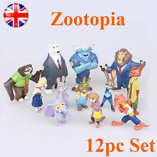 Zootopia Cake Toppers Action Figures Judy Nick Flash Kids Toy Gift 12pc Set 2016