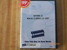 """""""Batman & Robin"""" widescreen/standard DVD..George Clooney, Arnold Schwarzenegger"""