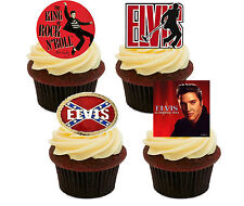 Elvis Presley Edible Cupcake Toppers - Stand-up Fairy Cake Decorations/ Birthday