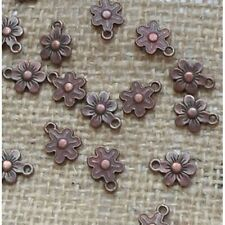 Red Copper ~ 20 Flower Charms