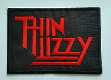 PUNK ROCK HEAVY METAL MUSIC SEW ON / IRON ON PATCH:- THIN LIZZY (a) RED LOGO