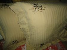 CROSCILL PORT OF CALL (PAIR) STANDARD PILLOW SHAM 21 X 27 SAGE GOLD PALM TREES