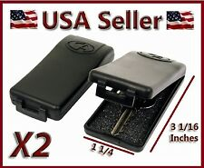 2 PACK LARGE BLACK MAGNETIC KEY CASE HOLDERS HIDE A SPARE EMERGENCY BOX CAR HOME