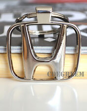 Classic Honda Badge Silver Metal Keyring Civic City Jazz Euro Accord Odyssey