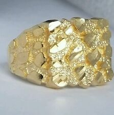Man's 14k yellow Gold Nugget Ring S 10.5