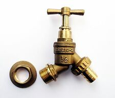 "Brass Water Butt Tap c/w 1/2"" Hose Tail. Water Storage,Rainwater Collection"