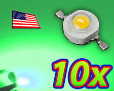 [10x] 1W Bright Green High Power LED Lamp Beads 70-80Lm 1 Watt - Ships FAST USA!
