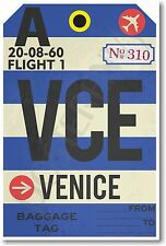VCE - Venice - Airport Baggage Tag - NEW Travel POSTER (tr513)