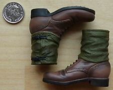 DRAGON 1/6th SCALE GERMAN ARMY WWII BROWN ANKLE BOOTS WITH GAITERS