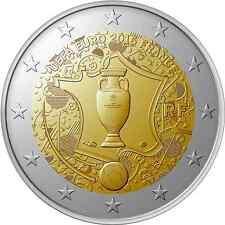 FRANCE 2 Euros Coupe de l'UEFA 2016 UNC