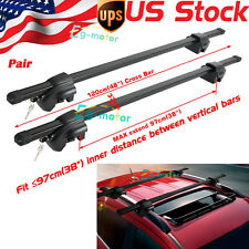 "48"" inch STEEL Universal Auto SUV Car Roof Top Cross Bars Luggage Cargo Rack 2x"