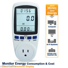 NEW Energy Power Volts Amps KWH Meter Analyzer Electricity Usage Monitor US Plug