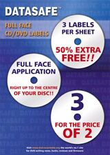 150  Datasafe CD DVD Matt Full Face 3UP Labels