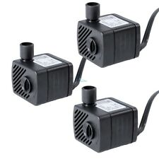 3 pcs Submersible Pump 50 Gph Aquarium Fish Tank Powerhead Fountain Hydroponic