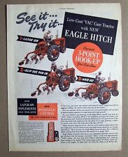 1950 Case VAC Eagle HitchTractor Ad  13 by 10.5 SEE IT TRY IT, LATCH ON, PIN, GO