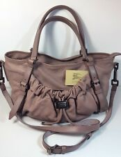 Burberry Farrar Slouchy Leather Drawstring Large Satchel Crossbody Bag