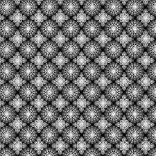 Fabric #2443, Gray Black Tile Grid Geometric Jason Yenter ITB, Sold by 1/2 Yard