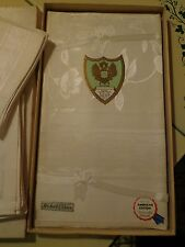 "VINTAGE DAMASK BANQUET SET 60"" X 100"" Tablecloth & Napkins MADE IN JAPAN IN BOX"
