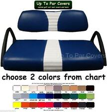 Club Car DS 2000+ Golf Cart Custom Front & Rear Flip Seat Cover Combo Set
