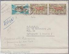 Lettre par avion avec des timbres mélangé du Mali et du Senegal 23/11/1961 -PT16