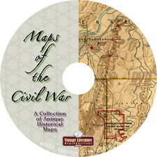 Maps of the Civil War { Over 550 Historic Images ~ USA History } on DVD