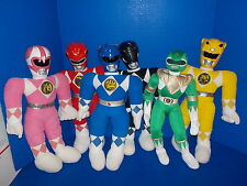 6 Vintage Power Rangers Plush Kimberly Pink Red Blue Green Black Yellow 18""