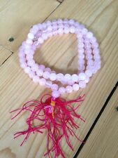 Rose Quartz Mala Prayer Beads 108, crystal, Buddhist, meditation, Hinduism
