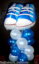 FOIL BALLOON NEW BABY SHOWER BLUE TABLE DISPLAY DECORATION AIR NO HELIUM SNEAKER
