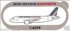 Baggage Label - Air Inter Europe - A319 - Airbus - Sticker (BL471)