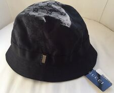 NWT Gucci Monogram black fedora hat-Size M-Made in Italy